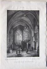 1838 MOULINS Escalier Cathedrale lito Durand Tudot Allier Desrosiers Auvergne
