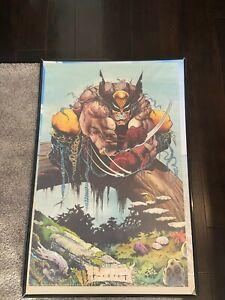 """Vintage Wolverine Marvel Comics 1991 Comic Book Art Poster 22x34"""" Glynis Oliver"""