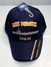 USS Nimitz CVN 68 Ball Cap Embroidered US Navy Aircraft Carrier Aviation Vet Hat