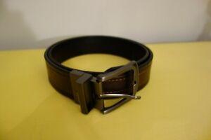 Levi's Leather Belt Mens Reversible Size 34 Logo Black/Brown