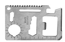 Credit Card 11 Function Multi-Tool, survival gear, emergency tool multi use safe