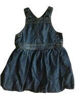 Bebe by Minihaha Girl's size 2 Blue Denim Overall Dress. Bib and Brace tradition