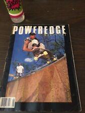 Poweredge Skateboard Magazine August 1989 Gator Mark Anthony 8/89 Aug