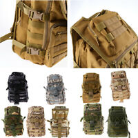 40L Large Travel Molle Backpack Climbing Camping Hiking Rucksack Bug Out Bag