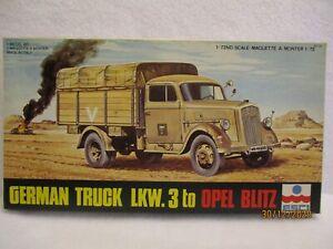 ESCI German Truck LKW.3Ton. opel blitz 1/72 scale #8007 Complete SEALED kit