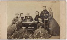 Famille bourgeoise France Mode Photographe Primitif Cdv Vintage ca 1860