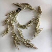 1.8m Festive Champagne Gold Christmas Glitter Garland Sparkle Leaves Decoration
