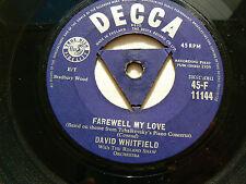 david whitfield     farewell my love (decca tri centre)EX