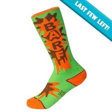 Gumball Poodle Kids BARF Crew Socks Green  FREE POSTAGE Fun Funky Funny