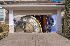 Christmas Clock Garage Door Covers 3d Banners Outside House Decor Billboard GD39