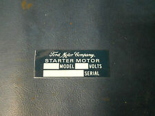 Jeep Willys MB GPW FORD Starter Motor sticker for GPW (P96)