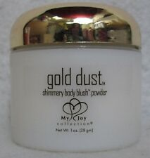 Gold Dust Shimmery Body Blush Powder 1 oz Lux Silky Sensuous My Joy Honey Glow