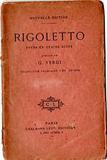 """TRES ANCIEN LIVRET D'OPERA """" RIGOLETTO """" de VERDI"""