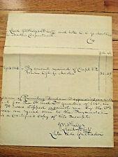 CIVIL WAR GENERAL JOHN W PHELPS SIGNED  US ARMY RECEIPT