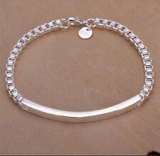 925 Sterling Silver Sf Id Bracelet Engravable Mens Women's 5mm By 21cm