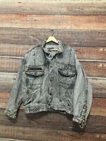 Get Used By Elie Denim Trucker Jean Jacket Vintage 90s Hip Hop Streetwear Medium