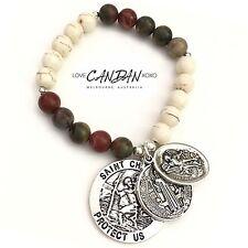 Saint Christopher St Michael St Benedict Charm Bracelet Great Gift Idea