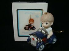 Precious Moments-Boy/Hot Rod Race Car Ornament-My Heart Races Only For You