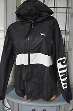Victoria's Secret love pink sweatshirt hoodie jacket anorak windbreaker M/L