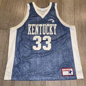 Vtg 90s KENTUCKY WILDCATS Jersey Basketball Converse Denim Ron Mercer MENS 2XL
