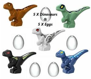 5X Jurassic World Mini Dinosaur Minifigure Baby Dino Mini Figure Custom FitsLego