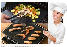 5 Tapis de Cuisson Tapis Barbecue Plaque Gaz Charbon électrique Feuille Cuisson