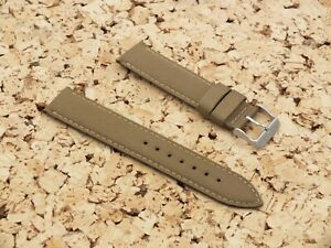 Canvas on Leather Watch Strap 22mm // Gold by Watchgecko / Geckota