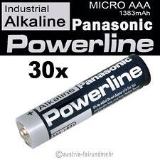 30x MICRO AAA LR03 MN2400 Batterie PANASONIC POWERLINE INDUSTRIAL