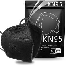 50/100 Pcs Black KN95 Protective 5 Layer Face Mask BFE 95% Disposable Respirator