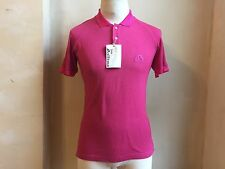 JOHN GALLIANO RARE PINK WOOL BLEND EMBROIDERY SIGNATURE LOGO POLO T SHIRT S  L