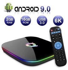 Q Plus Quad Core Smart TV Box Android 9.0 WiFi Media Player 2GB/16GB