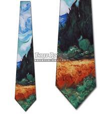 Weizenfeld mit Zypressen Krawatte Van Gogh Seidenkrawatten Herren Kunst Neck Ties BRANDNEU