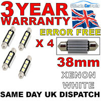 4 X 38MM 3 SMD LED 239 272 C5W CANBUS NO ERROR INTERIOR LIGHT FESTOON BULB WHITE