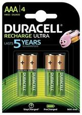 4 x Duracell Recharge Ultra Power Akkus Accus AAA Micro 900 mAh Duralock