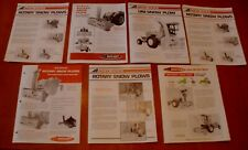 7 Rotary Snow Plows Advertising Brochures  NEW IDEA farming / agriculture