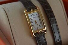 AUTH Hermes Nantucket Yellow, AU750 Gold, DoubletourTour Ladies Watch
