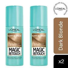 2 Pk L'Oreal Paris Magic Retouch Instant Root Concealer Spray Dark Blonde, 75ml