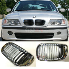 Front Grille Grill For 01-05 BMW 3 Series E46 318 320 325 328 330I Chrome 2 Fin