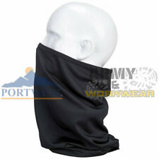 Portwest Stretchy Scarf Warm Neck and Nose Face Protection Multiway Warmer Black
