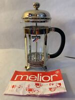 MELIOR 8 Cup French Press Nickel Plated Coffee Maker Plunger Made In France New