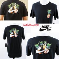 SZ LARGE SOLD OUT 🆕🏂Nike SB Skateboarding Pineapple Parrot Black T-Shirt Men's
