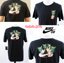 Nike SB Skateboarding Pineapple Parrot Black T-shirt Ar0403 010 Mens Size Large