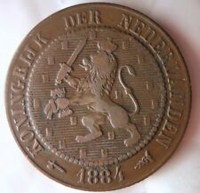 1884 NETHERLANDS 2 1/2 CENTS - Collectible - FREE SHIP - Netherlands Bin B