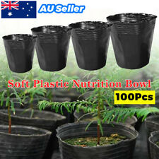 100PACK Plastic Plant Flower Pots Nursery Seedlings Pot Container & Plants Tags