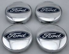 4x Silver FORD FITS MOST NEW MODELS 60MM ALLOY WHEEL CENTRE CAPS * High Quality*
