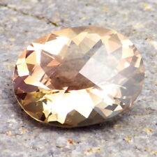 PEACHY-GOLD SCHILLER OREGON SUNSTONE 7.94Ct FLAWLESS-LARGE-GERMAN CUT-FOR JEWELR