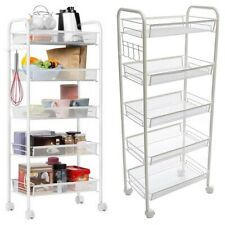 Catering Trolley Hotel Kitchen Restaurant Serving 5 Tier Drink Cart with Hook UK