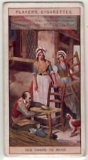 18th Century Chair Repair and Re-Caining Street Vendor London 100+ Y/0 Ad Card