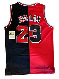 RARE Michael Jordan Autographed/Signed Chicago Bulls Split Jersey w/COA