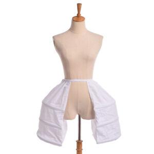 Victorian Dress Crinoline Cage Hoop Bustle  Double Pannier Rococo Gown Petticoat